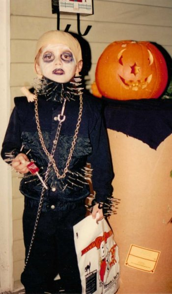 Theo's All-Time Favorite Halloween Costume: Uncle Fester from the Addams Family!